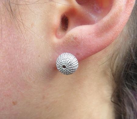 XP29 Sterling Silver Kina (Sea Urchin) Stud Earrings
