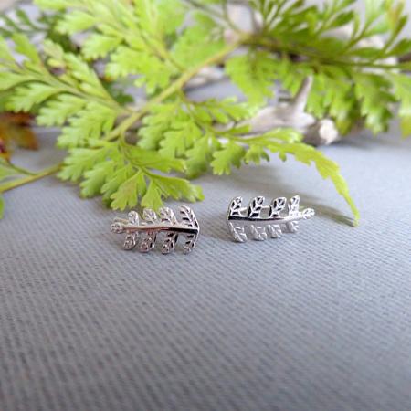XP35 Sterling Silver Fern Cuff Earrings