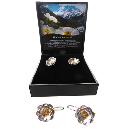 XP39 Sterling Silver Mt Cook Lily drop earrings
