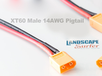 XT60 Male 14AWG Pigtail