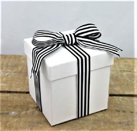 Yarn-Dyed Ribbon: Black & White x 5 Metres