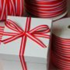 Yarn-Dyed Ribbon Red & White  x 10 Metres CLEARANCE