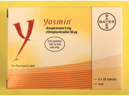 Yasmin 84s (  Drosperinone 3mg  /Ethinyloestradiol 30mcg  )