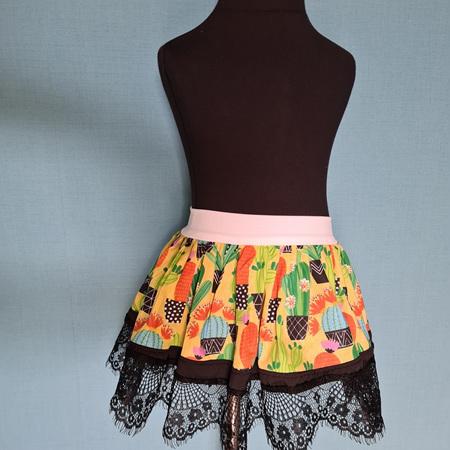 Yellow Cactus Skirt Size 2-3