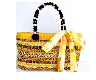 Yellow Cataleya Handbag - Free Shipping