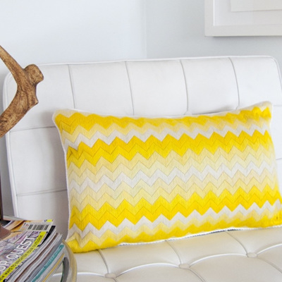 Yellow Chevron Long Stitch Kit