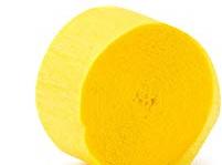 Yellow crepe paper