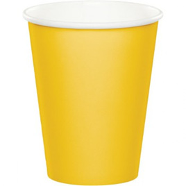 Yellow cups x 8