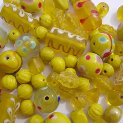 Yellow Fancy Bead Mix