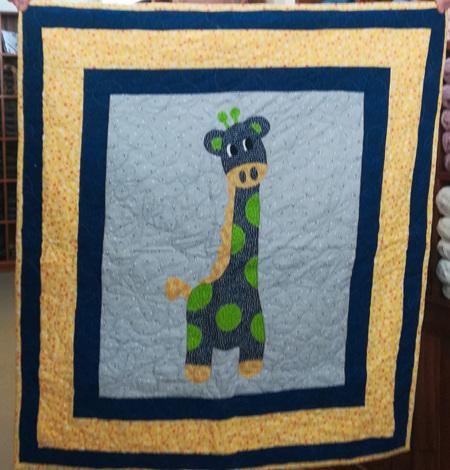 Yellow Giraffe Cot Quilt