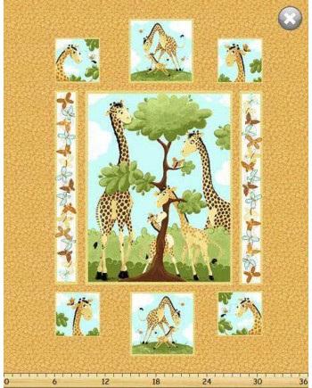 Yellow Giraffe Panel