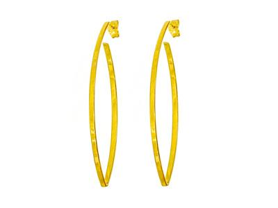 Open Marquise Shaped Drop Earrings