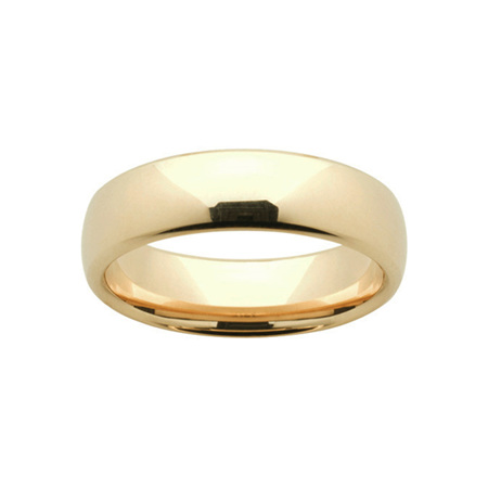 Yellow Gold Mens Comfort Curve Wedding Ring