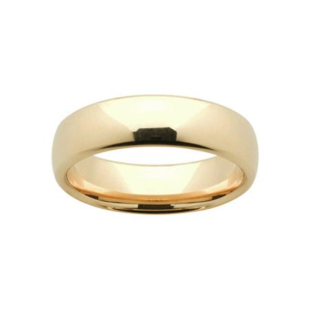 Yellow Gold Mens Comfort Curve Wedding Ring