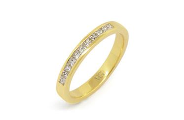 Yellow Gold Princess Cut Diamond Band
