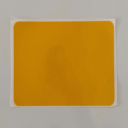 YELLOW NUMBER PLATE