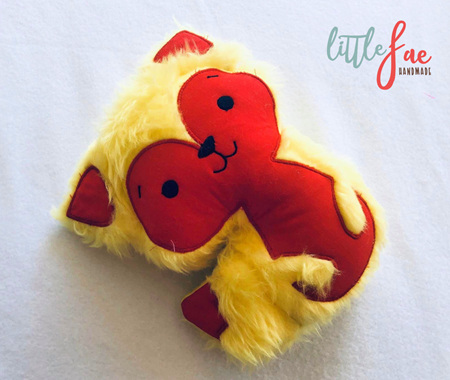 Yellow & Red Fox Toy