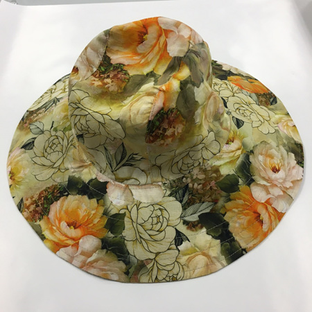 Yellow Roses Sombrero Hat - Adult size large