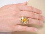 Yellow Sapphire Diamond Dress Ring