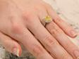 Yellow Sapphire Fancy Diamond Ring