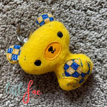 Yellow Teddy Keyring