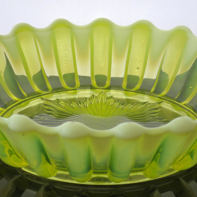 Yellow vaseline glass