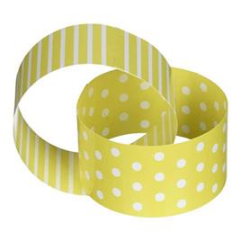 Yellow & white  dot paper chain