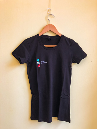 YES T-Shirt Woman's - Black  (Slim Fit)