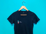 YES T-Shirt Woman's -Navy (Slim Fit)