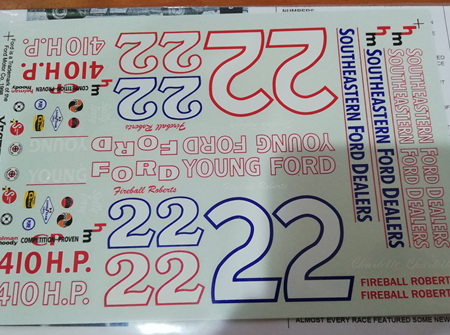 Yesterday's 1963-64 #22 Fireball Roberts Ford Decals (YD6322)