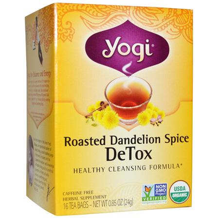 Yogi Organic Tea Roasted Dandelion Spice Detox 16pk