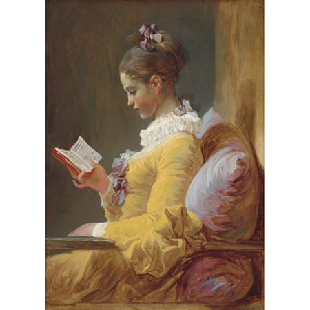 Young Girl Reading Decoupage Paper by Mint