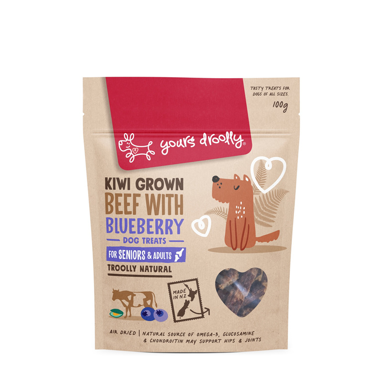 Yours Droolly NZ Dog Treats - Beef with Blueberry