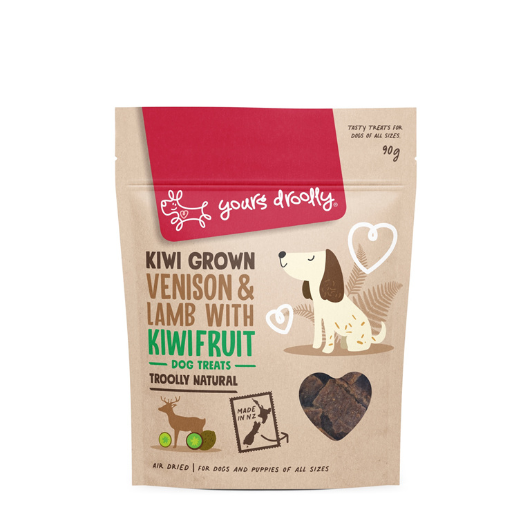 Yours Droolly NZ Dog Treats - Venison, Lamb & Kiwifruit
