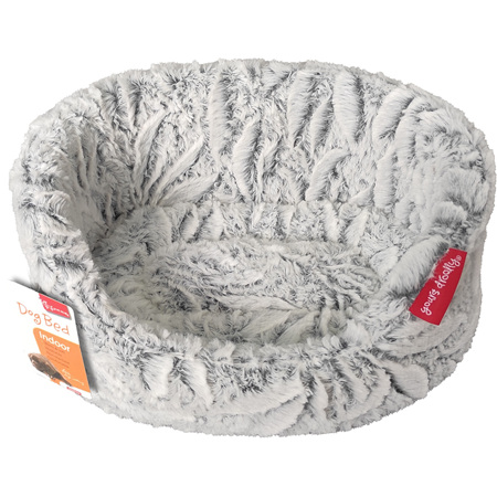 Yours Droolly Winter Dog bed White
