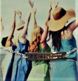 Zad Bracelet: Feminist - Silver Colour