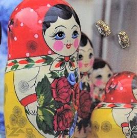 Zad Earrings - Little Russian Dolls