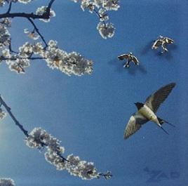 Zad Earrings - Little Swallow Birds