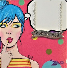 Zad Necklace: Retro Lady - Good Witch