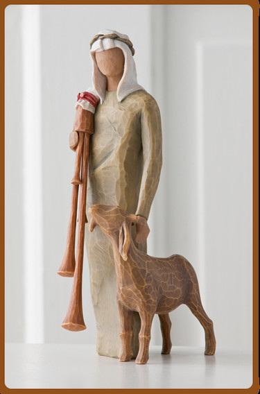 Zampognaro - Shepherd with Bagpipes - Willow Tree