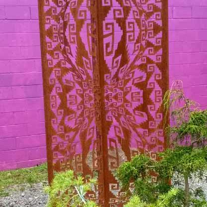 'Zapotec Waves' Steel Screen