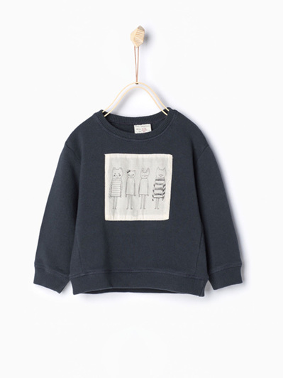 Zara Boys or Girls Navy Sweater
