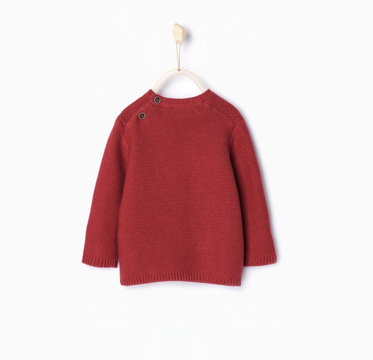 2ead0ad94fb2 Zara Boys or Girls sweater with dice on the front Brick colour ...
