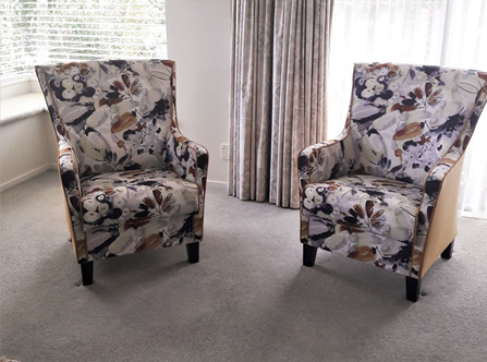 Zara Chairs Upholstered  Designed and Made To Order New Zealand
