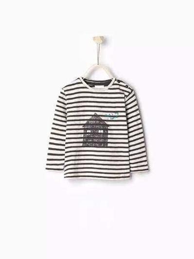 Zara Navy stripped long sleeved top