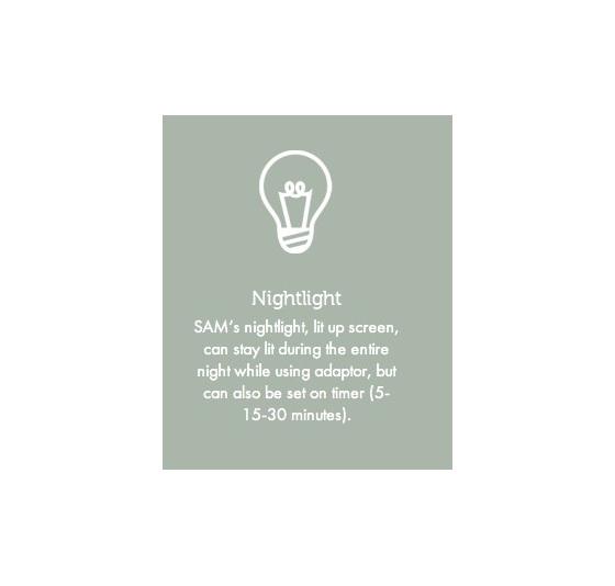 ZAZU Sam sleep training clock and night light