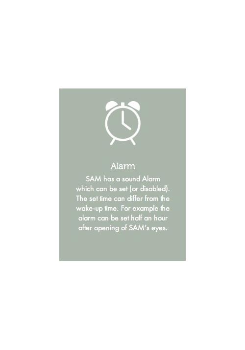 Zazu sleep training clock - Sam has two settings. Sleep and nap