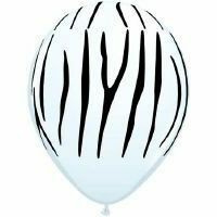 Zebra balloon latex 30cm