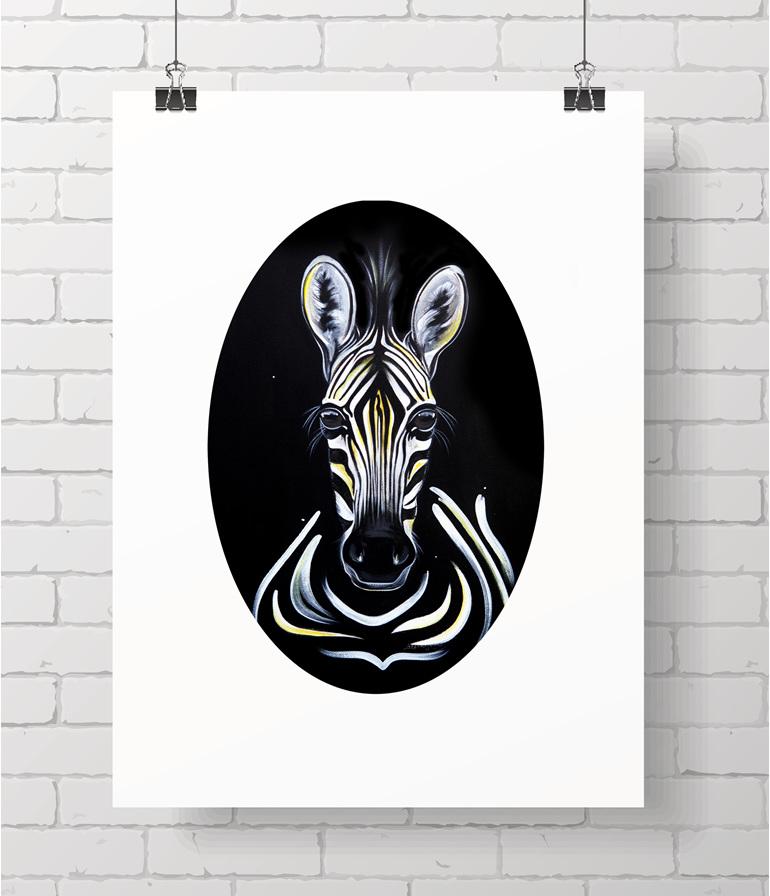 zebra oval