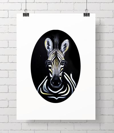 zebra oval print